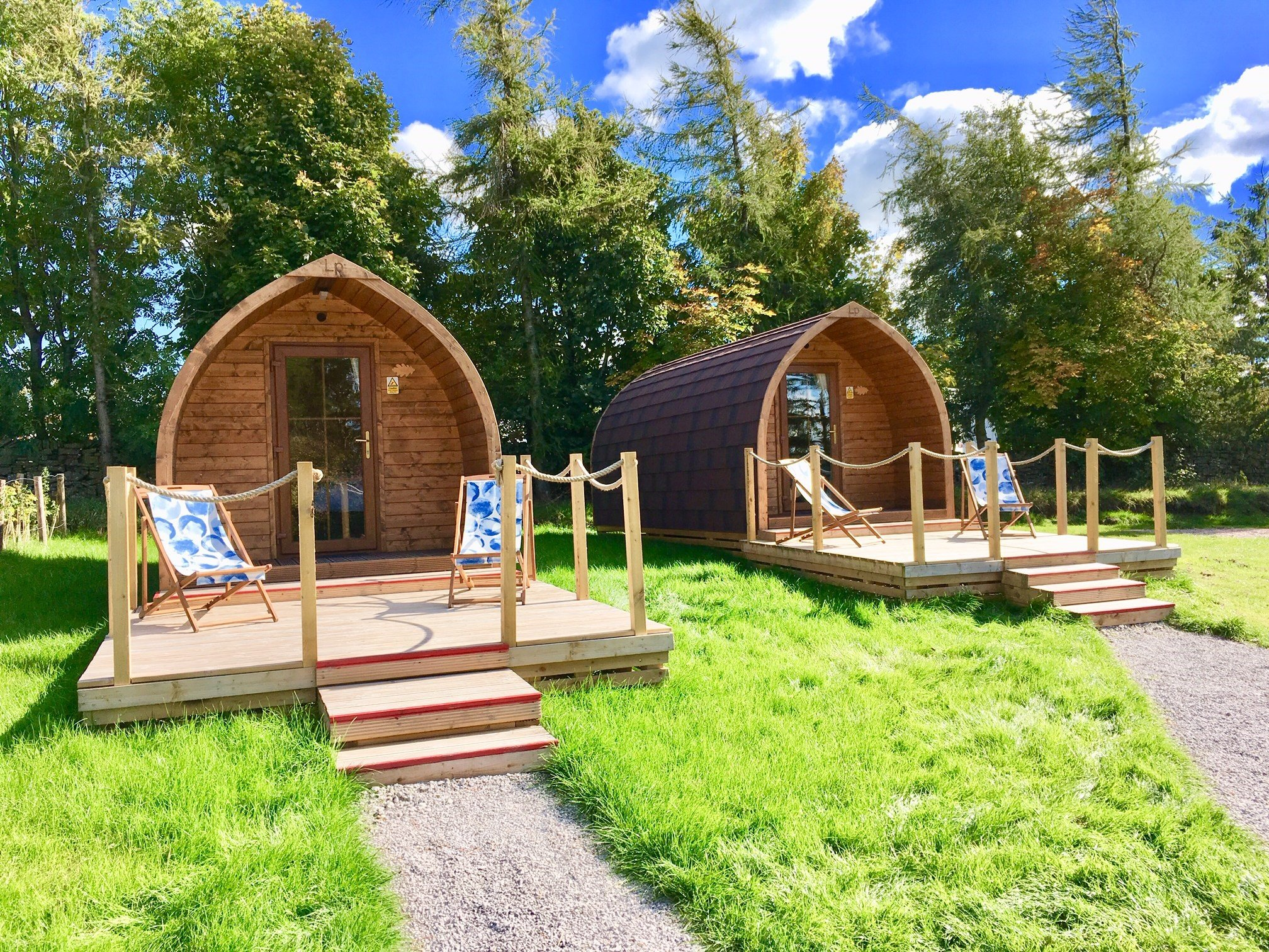 Camping Pods in the Peak District, situated at Longnor Wood